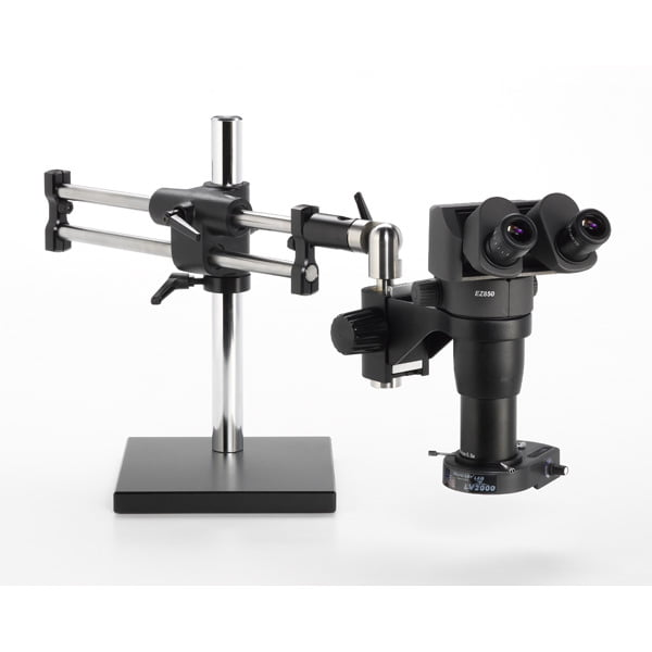 Ergo-Zoom® Microscope Package - 8-50x Magnification - Shown with LV2000 | High Intensity Dimmable LED Light Source