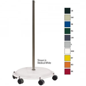 Roll Around Base in Medical White finish (shown with 10 colors available)