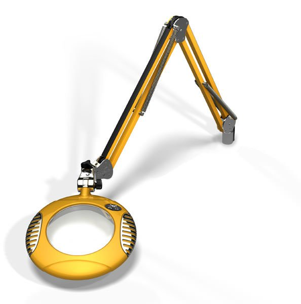 """Green-Lite™ - 6"""" Round LED Magnifier - Blazing Yellow"""