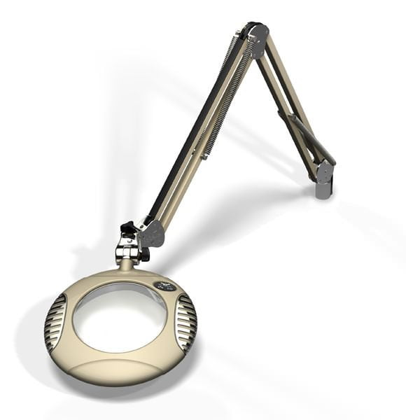 """Green-Lite™ - 6"""" Round LED Magnifier - Shadow White"""