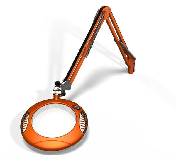 "Green-Lite™ - 7.5"" Round LED Magnifier - Brilliant Orange"