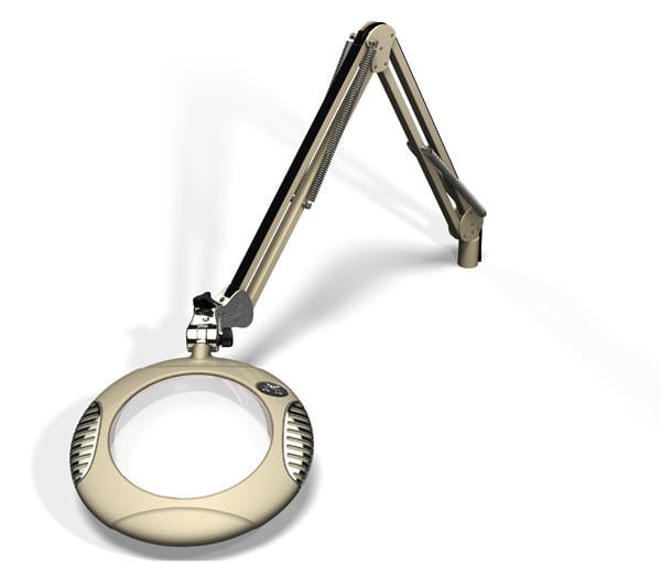 """Green-Lite™ - 7.5"""" Round LED Magnifier - Shadow White"""