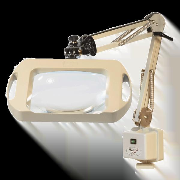 "Magnilite® - Vision-Lite® Rectangular Magnifier - 25"" Reach - Table Edge Clamp"