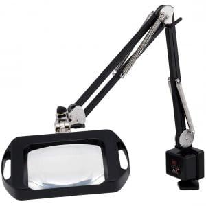 "Magnilite® - Vision-Lite® Rectangular Magnifier - 43"" Reach - Carbon Black"