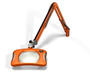 Green-Lite™ - Rectangular LED Magnifier - Brilliant Orange