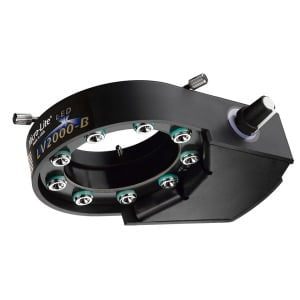 Micro-Lite® High Intensity Black LED Ring Illuminator with 9 Extreme Output LEDs