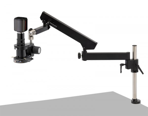 MacroZoom - 5 MP Hybrid HDMI/USB Digital Camera - Articulating Arm Base (shown with LED ring light, not included)