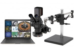 ProZoom® 6.5 Trinocular Microscope with 5MP Hybrid HDMI/USB Digital Camera - Ball Bearing Base - TKDPZT-LV2