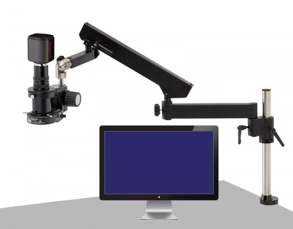 "MacroZoom - 5MP Hybrid HDMI/USB3 Digital Camera - 22"" LCD - Articulating Arm Base (shown with optional LED ring light, not included)"