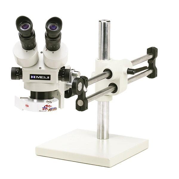 Meiji Stereo-Zoom Binocular Microscope System - Ball Bearing Base - TKMZ-F