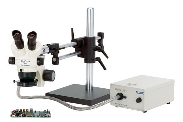 ProZoom® 6.5 Binocular Microscope (models now feature all black paint) - Ball Bearing Base - TKPZ-A