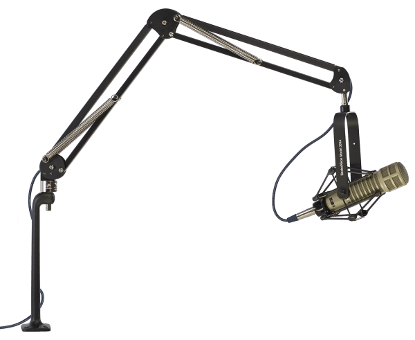 "ProBoom™ Deluxe Mic Arm with Riser - 29"" Reach - 12"" Mic Riser - Carbon Black"