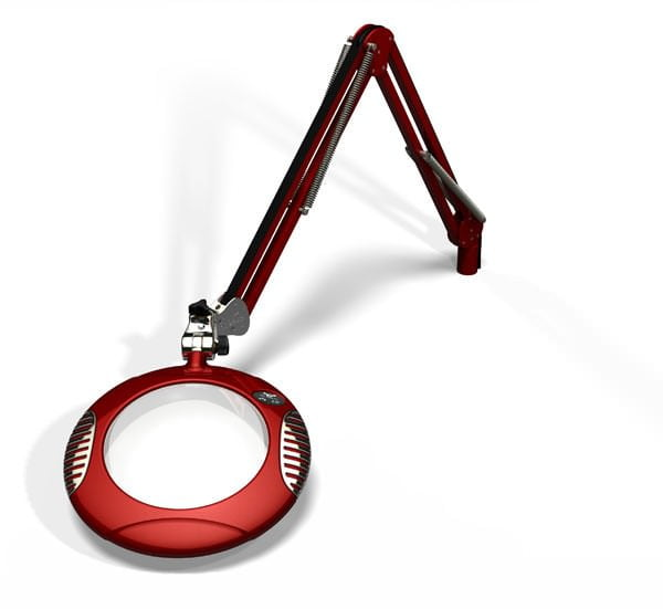 "Green-Lite™ - 7.5"" Round LED Magnifier - Blaze Red"