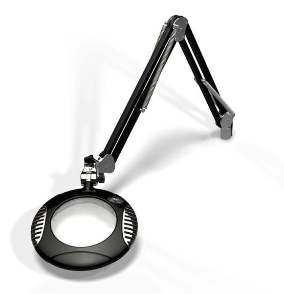 "Green-Lite™ - 6"" Round LED Magnifier - Carbon Black"