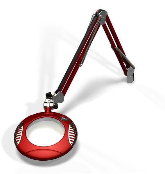 "Green-Lite™ - 6"" Round LED Magnifier - Blaze Red"