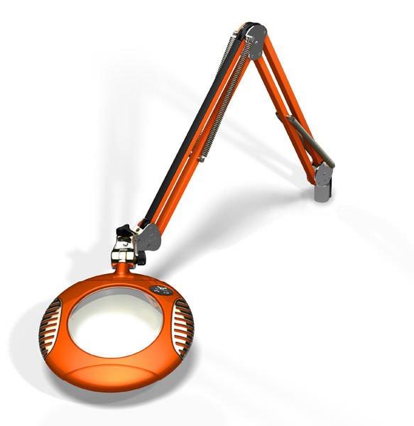 "Green-Lite™ - 6"" Round LED Magnifier - Brilliant Orange"