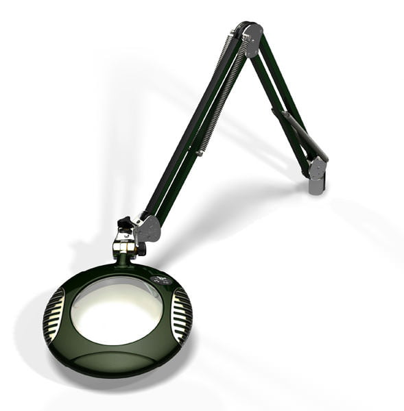 "Green-Lite™ - 6"" Round LED Magnifier - Racing Green"