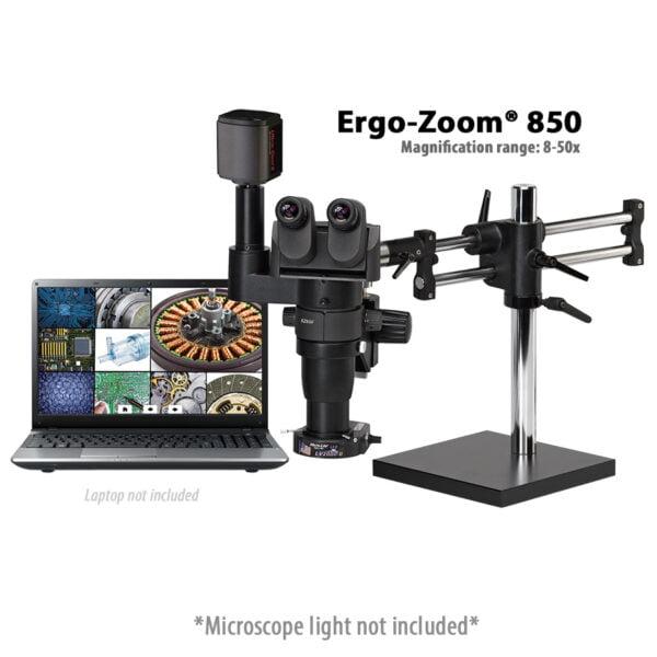 Ergo-Zoom 850 Trinocular Microscope