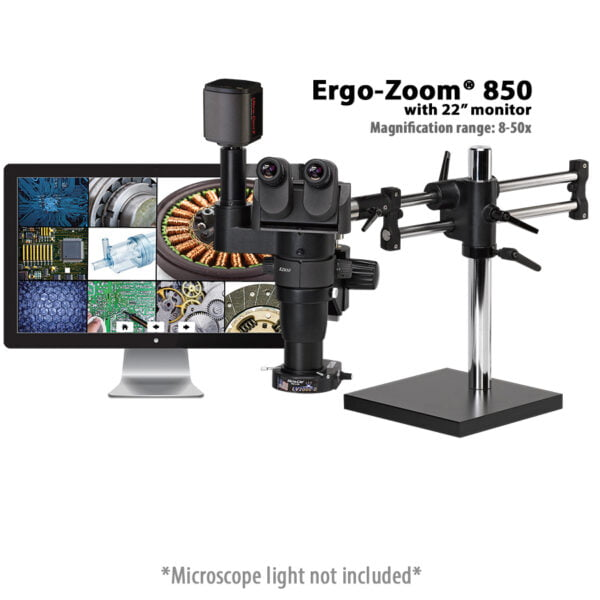 "Ergo-Zoom® Trinocular Microscope with 22"" Monitor"