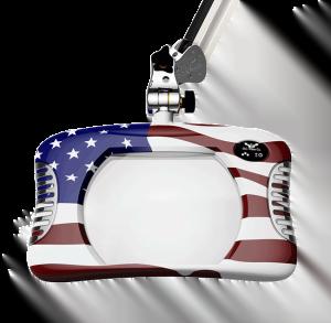 Green-Lite™ - Rectangular LED Magnifier - American Flag