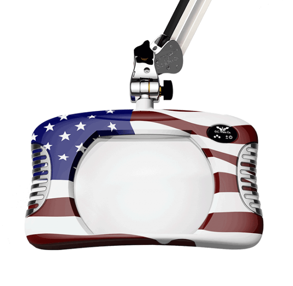 Green-Lite™ - Rectangular LED Magnifier - American Flag