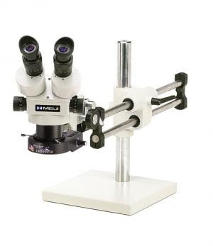 Meiji Stereo-Zoom Binocular Microscope System - Ball Bearing Base - TKMZ-LV2