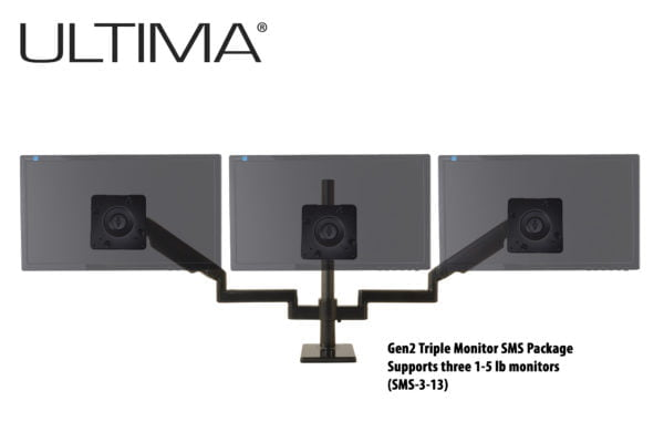 Scalable Monitor System, three monitor configuration