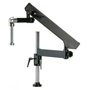 Heavy Duty Articulating Arm Assembly with 20mm Stainless Steel Drop Arm for Microscopes & Video Systems