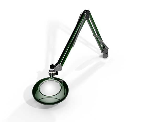 """Green-Lite® - 5"""" Round LED Magnifier - 43"""" Reach - Table Edge Clamp-969"""