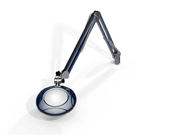 """Green-Lite® - 5"""" Round LED Magnifier - 43"""" Reach - Table Edge Clamp-971"""