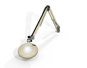 "Green-Lite® - 5"" Round LED Magnifier - 43"" Reach - Table Edge Clamp-0"