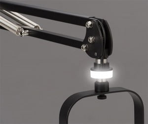 Mic-Lite™ LED On Air Light for ProBoom® Elite and Deluxe Mic Booms shown in Mic-Standby setting