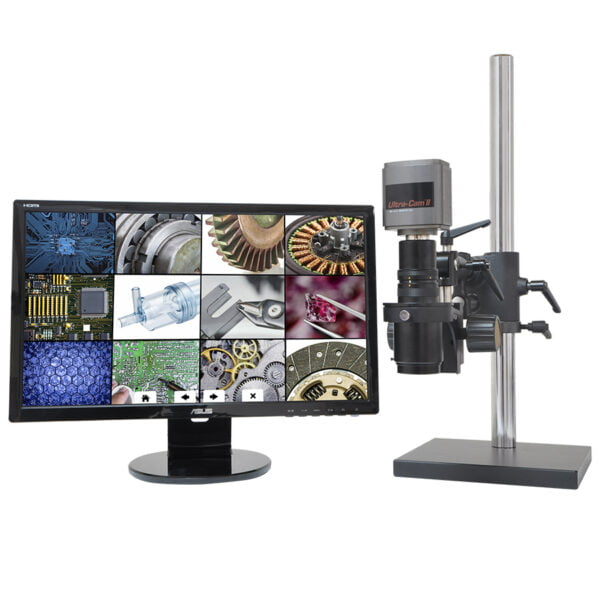 "MacroZoom® 6MP Ultra-Cam II™ and 22"" LCD Monitor, Ball Bearing Base"