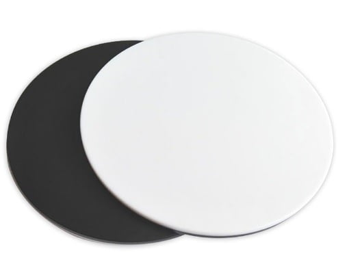 ProZoom® 4.5 Replacement White/Black Stage Plate for Laboratory Style Base (Two shown for Black/White Reverse effect)