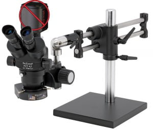 ProZoom® 6.5 Trinocular Microscope System - No Camera or Screen - Ball Bearing Base - ESD Safe
