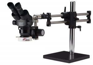 ProZoom® 4.5 Extended Working Distance Binocular Microscope - Ball Bearing Base - Fluorescent Ring Light - ESD Safe