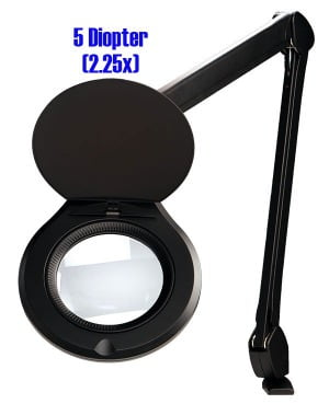 "Accu-Lite™ 5"" Round LED Magnifier; 5 Diopter (2.25x)"