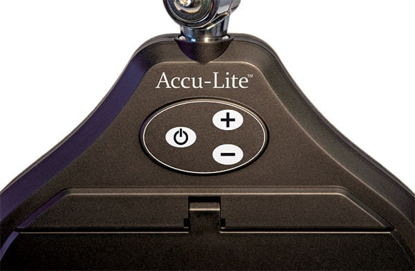 "Closeup Detail of Accu-Lite™ 6.85"" Rectangle LED Magnifier Membrane Switch"