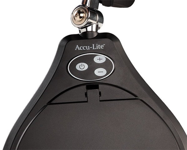 "Membrane Switch on Accu-Lite™ 5"" Round LED Magnifier"