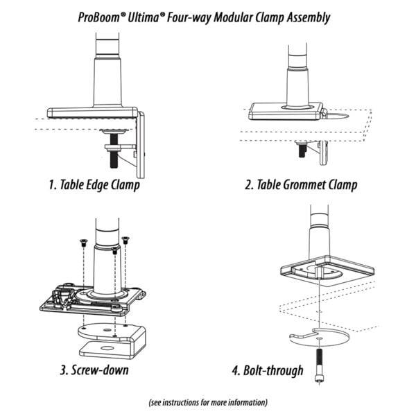 Four-way Modular Clamp Assembly