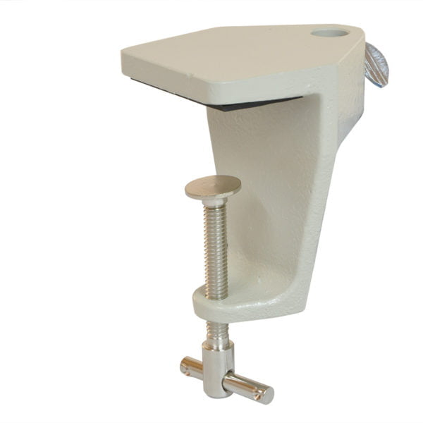 """Cast Iron Table Edge Clamp Assembly for All ProBoom® Elite and Junior Mic Arms (1/2"""" hole) - Shadow White"""