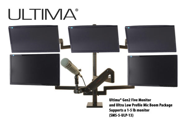 Five monitors, One Microphone, Scalable Monitor System