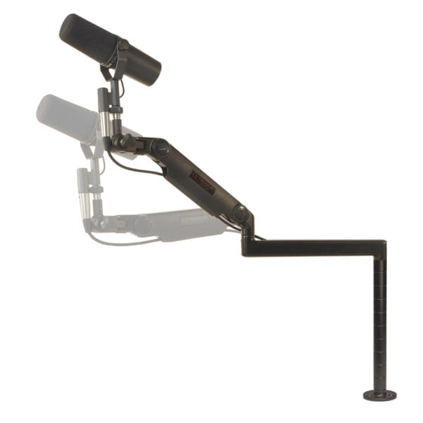"""Ultra Low Profile mic arm with 10"""" riser base mount"""