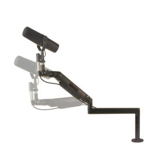 "Ultra Low Profile mic arm with 6"" riser base mount"