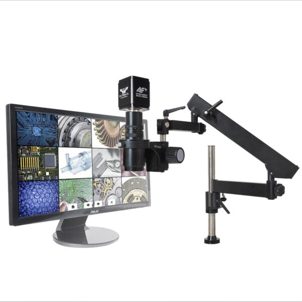 """MacroZoom® AutoFocus with 22"""" Monitor and Articulated Arm Base"""