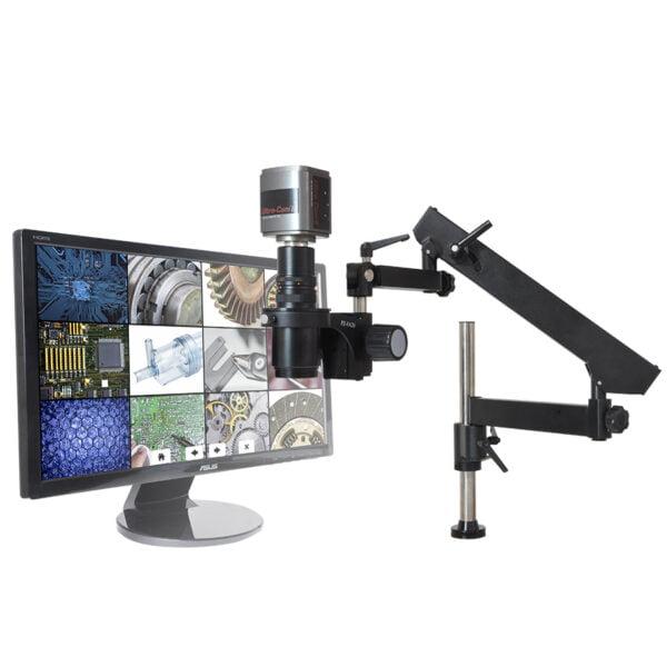 "MacroZoom® Ultra-Cam™ II, 22"" LCD Monitor, Articulated Arm Base"