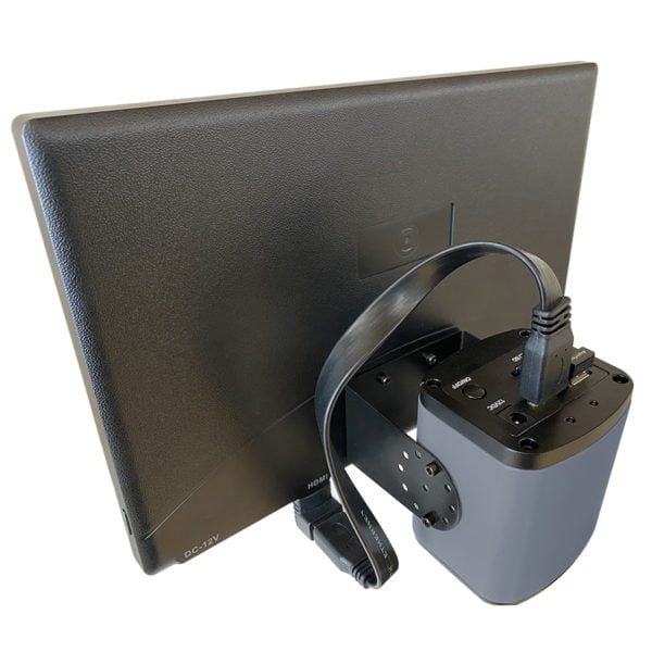 """Integrated 12"""" Monitor for Super-Scope® back view"""